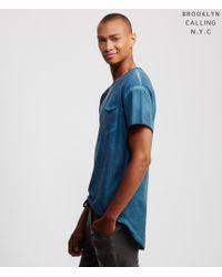Brooklyn Calling | Blue Lunar Dye Pocket Tee for Men | Lyst