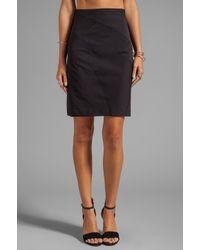 Theory - Reddy Stretch Rib Skirt in Black - Lyst