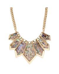 ALDO   Green Briralia Chain & Stone Necklace   Lyst