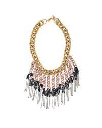 Ela Stone | Pink Maggie Plastron Necklace | Lyst