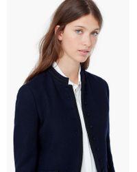 Mango - Blue Side-pocket Wool-blend Jacket - Lyst
