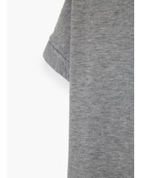 Violeta by Mango | Gray Metallic Stripes T-shirt | Lyst