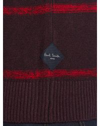 Paul Smith - Purple Crew Neck Striped Knitted Jumper for Men - Lyst