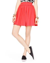 kate spade new york | Pink Crepe Gathered Skirt | Lyst