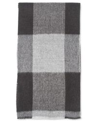 Tommy Hilfiger | Gray Oversized Buffalo Check Scarf for Men | Lyst