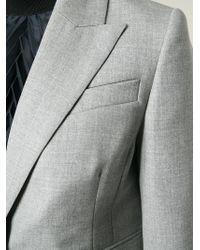 Carven - Gray Textured Peak Lapel Blazer - Lyst