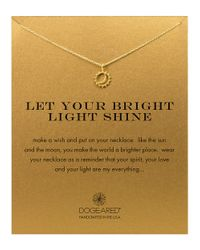 Dogeared | Metallic 'let Your Bright Light Shine' Pendant Necklace | Lyst