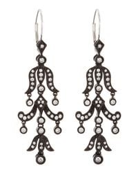 KC Designs | Black Diamond Chandelier Earrings | Lyst