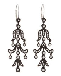 KC Designs - Black Diamond Chandelier Earrings - Lyst