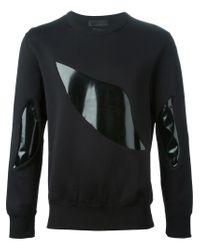 Alexander McQueen - Black Abstract Panel Sweatshirt for Men - Lyst