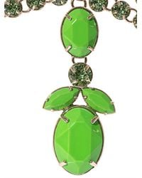 Valentino - Green Statement Crystal Necklace - Lyst