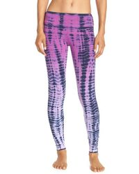 Hard Tail - Gray Tie Dye Stretch Leggings - Lyst