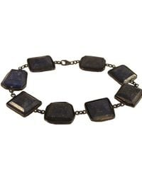 Adornia | Sterling Silver And Blue Lapis Sienna Bracelet | Lyst