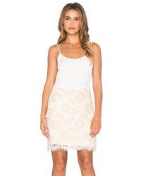 Ella Moss - Natural Stella Mini Dress - Lyst