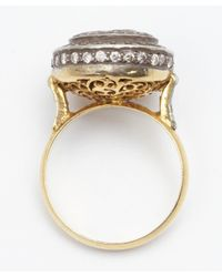 Amrapali - Metallic Diamond And Gold 'color Stone' Cocktail Ring - Lyst