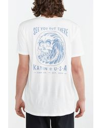 Katin | White Skullnami Tee for Men | Lyst