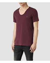 AllSaints - Purple Tonic Scoop T-shirt for Men - Lyst