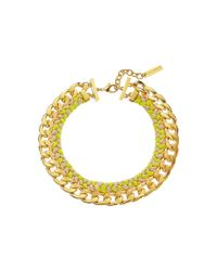 Vince Camuto | Metallic Woven Neon Drama Collar Necklace | Lyst