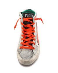 Golden Goose Deluxe Brand - Slide Sneakers  Whitegreenpink - Lyst