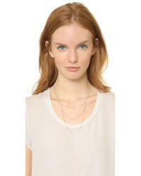 Blanca Monros Gomez - Metallic Layered Chain Necklace - Gold - Lyst