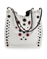 Proenza Schouler - White Grommet-studded Medium Tote Bag - Lyst