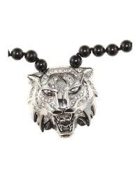 Roberto Cavalli - Black Embellished Necklace - Lyst