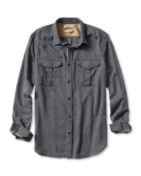 Banana Republic | Gray Heritage Military Shirt for Men | Lyst
