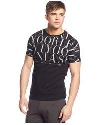 Armani Jeans - Black Logo Graphic T-Shirt for Men - Lyst
