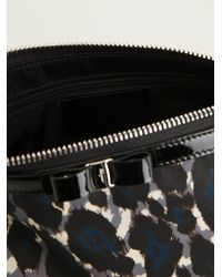 Ferragamo - Black Leopard Print Cosmetics Case - Lyst