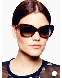 kate spade new york | Red Ursula Sunglasses | Lyst