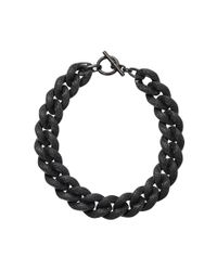 Michael Kors - Black Curbchain Pave Toggle Necklace - Lyst