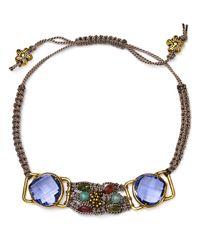 Coralia Leets - Purple Macrame Bracelet - Lyst