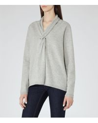 Reiss | Gray Lemaire Twist-front Jumper | Lyst