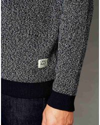 Jack & Jones | Gray Crew Neck Jumper With Twisted Yarns for Men | Lyst