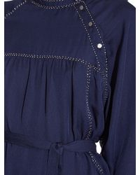 Isabel Marant - Blue Adele Silk Dress - Lyst