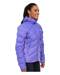 The North Face | Purple Fuseform™ Dot Matrix Hooded Down Jacket | Lyst