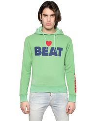 DSquared² - Green Love Beat Cotton Fleece Sweatshirt for Men - Lyst