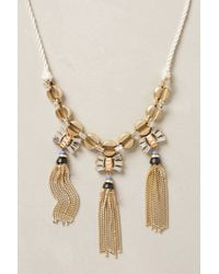Anthropologie | Metallic Marielle Tassel Necklace | Lyst