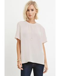 Forever 21 - Natural Classic Vented Top - Lyst