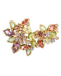 Jay Strongwater | Multicolor Naomi Floral Cluster Pin | Lyst