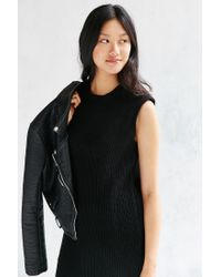 Native Youth | Black Ribbed Knit Mini Dress | Lyst