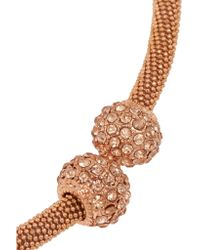 Kenneth Jay Lane - Metallic Rose Gold-plated Crystal Necklace - Lyst