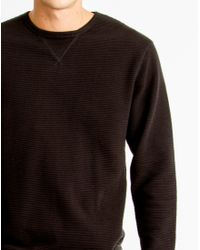 Only & Sons - Mens Crew Neck Striped Sweatshirt Black for Men - Lyst