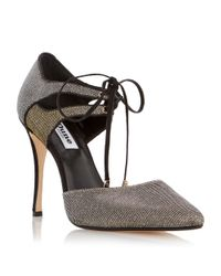 Dune - Metallic Charleen Lace Up High Court Shoes - Lyst