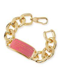 Marc By Marc Jacobs | Metallic Standard Supply Id Chain Bracelet | Lyst
