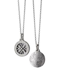 Monica Rich Kosann | Metallic 18K White Gold & Diamond Gate Locket Necklace | Lyst