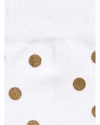 Happy Socks - White Metallic Dot Socks - Lyst
