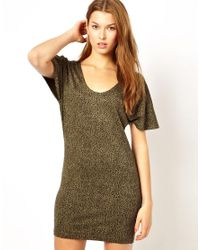 Traffic People | Green Zip It Leopard Dress | Lyst