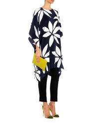 Issa - Blue Kylie Floral-print Silk Tunic Top - Lyst