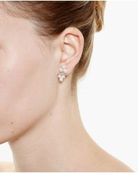 Yvonne Léon | White 18K Gold And Pearl Trilogy Earring | Lyst